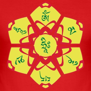 Mantra mudra OM MA NI PE ME HUNG - Slim Fit T-skjorte for menn