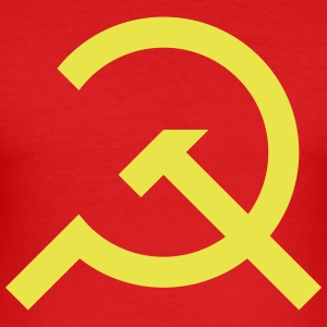 Hammer and Sickle Communist Design - Men's Slim Fit T-Shirt