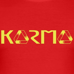 karma - Männer Slim Fit T-Shirt