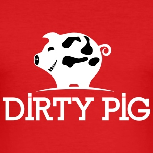DIRTY_PIG_White - Tee shirt près du corps Homme