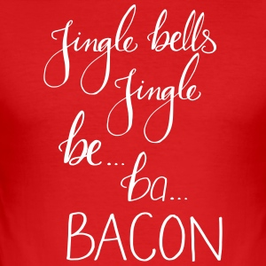 JingleBacon - Slim Fit T-skjorte for menn