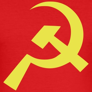 Kommunist Hammer Sickle Flag - Slim Fit T-skjorte for menn