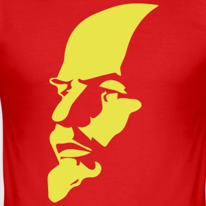 Portrait of Communist Lenin - Men's Slim Fit T-Shirt