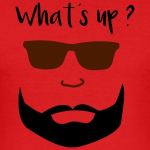 bart mann whats up - Männer Slim Fit T-Shirt