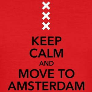 keep calm move to Amsterdam Holland Kreuz Cross - Männer Slim Fit T-Shirt