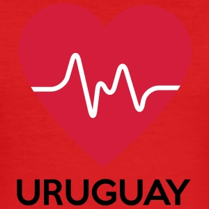 heart Uruguay - Men's Slim Fit T-Shirt