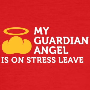 My Guardian Angel Is On Vacation - Men's Slim Fit T-Shirt