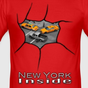 New York Innen - Männer Slim Fit T-Shirt