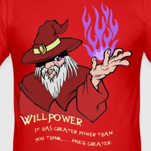 Willpower Wizard Red/Purple Flame - slim fit T-shirt