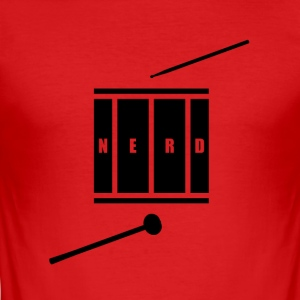 Nerd_Logo Black - Herre Slim Fit T-Shirt