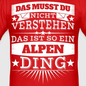 Alpen Ding - Männer Slim Fit T-Shirt
