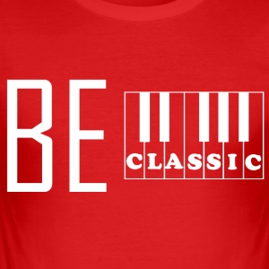 piano klassiker - Slim Fit T-skjorte for menn