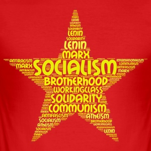 socialism word cloud - Men's Slim Fit T-Shirt