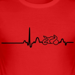 EKG HEART LINE BIKE svart - Slim Fit T-shirt herr