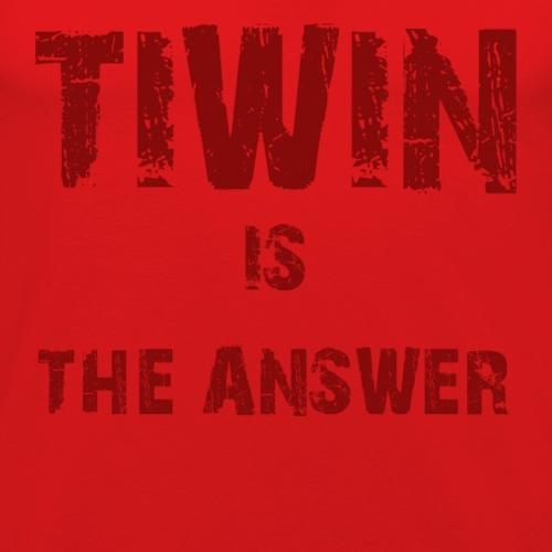 TIWIN EST LA REPONSE - T-shirt près du corps Homme
