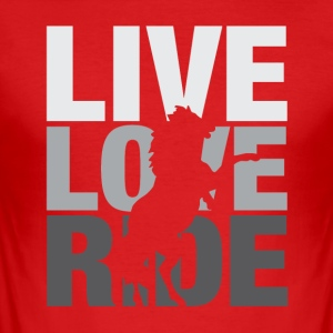 Love Live Ride - Slim Fit T-shirt herr