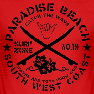Paradise Beach Logo - Men's Slim Fit T-Shirt