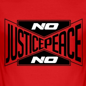 No justice, no peace (black) / No justice ... - Men's Slim Fit T-Shirt