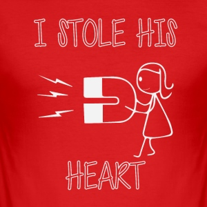 I've stolen his heart - Men's Slim Fit T-Shirt