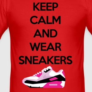 Keep calm and wear sneakers - Men's Slim Fit T-Shirt