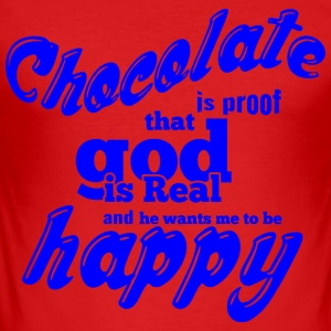 CHOCOLATE IS PROOF blue - Men's Slim Fit T-Shirt