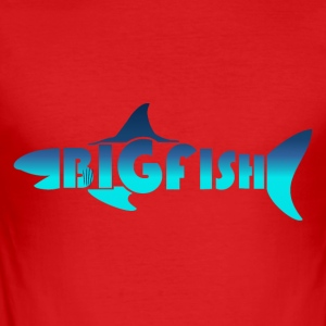 BIG FISH - Slim Fit T-skjorte for menn