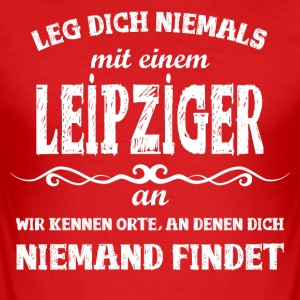 Leipzig Shirt - Männer Slim Fit T-Shirt