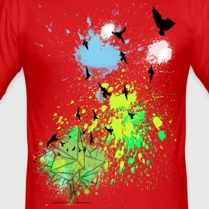 vogels in kleur - slim fit T-shirt