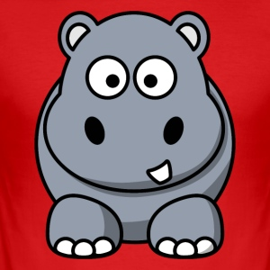 Cool Hippo Motif - Men's Slim Fit T-Shirt