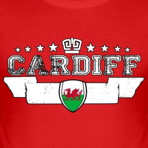 Cardiff - Männer Slim Fit T-Shirt