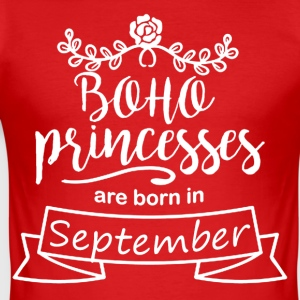 Boho Prinsessen zijn geboren in september - slim fit T-shirt