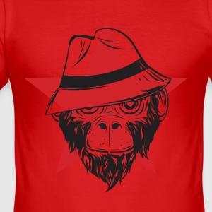 Scimmia_cappel_1 monkey - Men's Slim Fit T-Shirt