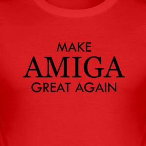make amiga great again - Männer Slim Fit T-Shirt