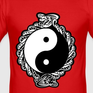 "YING-YANG ""COBRA SPIRIT"" COLOR VERSION - Men's Slim Fit T-Shirt"