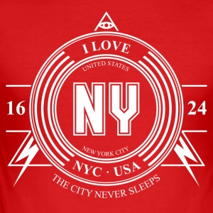 New York City Badge - Men's Slim Fit T-Shirt