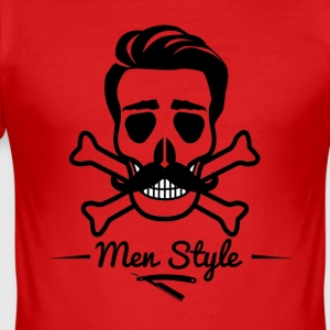 Skull Barber frisør menn stil Skull Beard - Slim Fit T-skjorte for menn