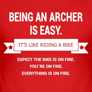 BEING A ARCHER - Men's Slim Fit T-Shirt