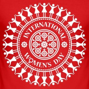 International Women's Day Mandala T-Shirt - Men's Slim Fit T-Shirt