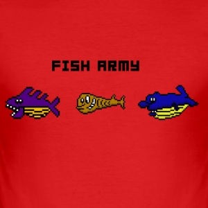 Fish Army - Männer Slim Fit T-Shirt