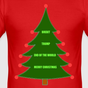 Kerstmis Brexit Trump - slim fit T-shirt