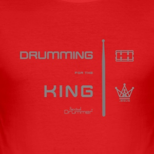 Drummer for the King - Tee shirt près du corps Homme