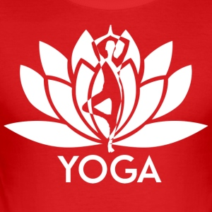 ++ ++ Yoga Flower - Slim Fit T-skjorte for menn