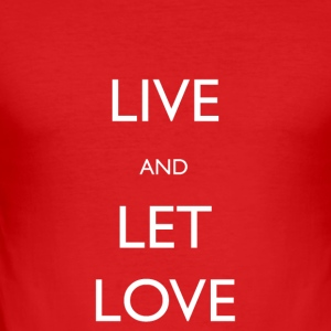 Live And Let Love - Slim Fit T-shirt herr