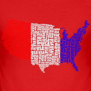 USA - Herre Slim Fit T-Shirt