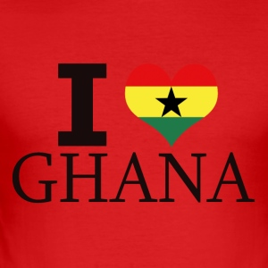 I LOVE GHANA - Slim Fit T-skjorte for menn
