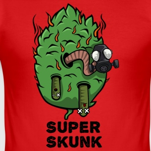 Super Skunk Marijuana Bud - Herre Slim Fit T-Shirt