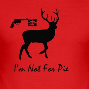 No Hunting Christmas Deer - Men's Slim Fit T-Shirt