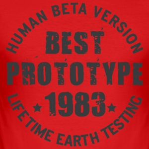 1983 - The year of birth of legendary prototypes - Men's Slim Fit T-Shirt