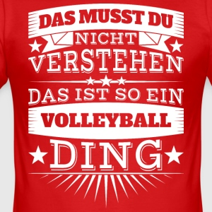 Volleyball Ding - Männer Slim Fit T-Shirt