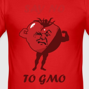 SAY NO TO GMO - Men's Slim Fit T-Shirt